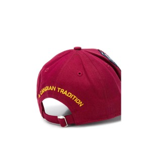 CAPPELLO BASEBALL BORDEAUX MULTI PATCH DSQUARED2