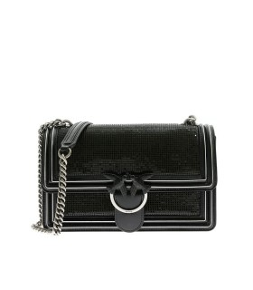 BORSA LOVE BAG METAL NERO PINKO