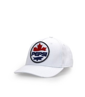 CAPPELLO DA BASEBALL PATCH PEPSI BIANCO DSQUARED2