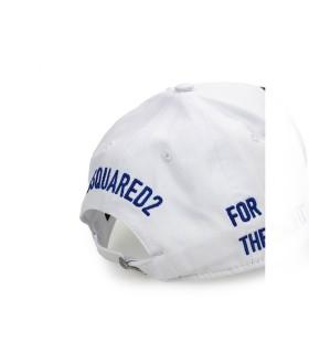 DSQUARED2 WHITE PEPSI PATCH BASEBALL CAP