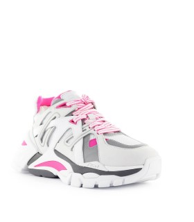 ASH WHITE NEON PINK FLASH SNEAKER
