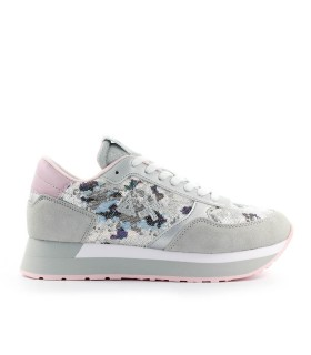 SNEAKER KATE PAILLETTES ANIMAL GRIGIO SUN68