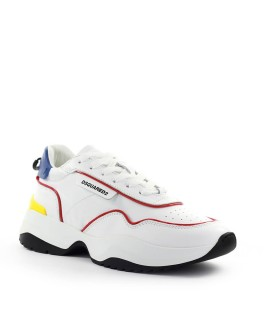 SNEAKER D24 BIANCO ROSSO DSQUARED2