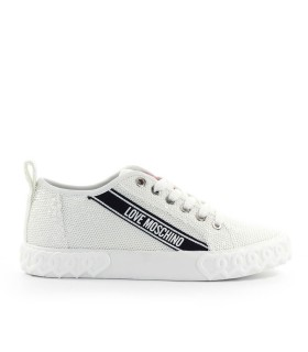 SNEAKER PAILLETTES BIANCO LOVE MOSCHINO