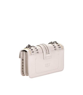 BOLSO BANDOLERA LOVE MINI MIX STUDS BLANCO PINKO