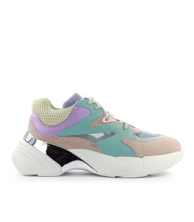 PINKO MAGGIORANA 2 TURQUOISE GREEN PINK LILAC SNEAKER
