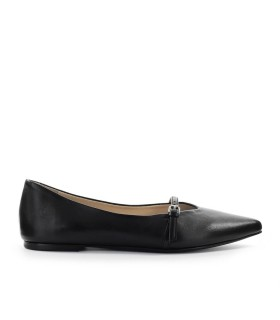 STRATEGIA BLACK NAPPA BALLET FLAT
