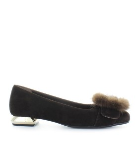 NICOLE BONNET BROWN SUEDE BALLET SHOES