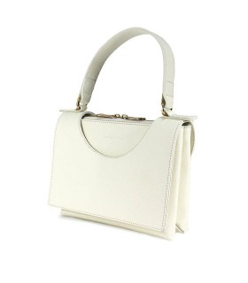 L'AUTRE CHOSE CIRCLE CREAM WHITE HANDBAG