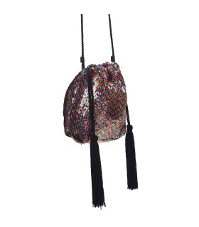 BORSA A SACCHETTO MINI DAFNE PAILLETTES MULTICOLORE TWENTY FOURHAITCH
