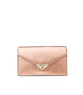 MICHAEL KORS GRACE METALLIC PINK CROSSBODY BAG
