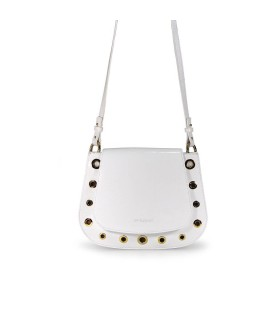 L'AUTRE CHOSE WHITE PATENT MESSENGER BAG