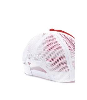DSQUARED2 RED MESH LOGO BASEBALL CAP