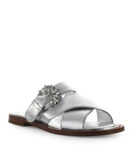 MICHAEL KORS SILVER FRIEDA SLIDE