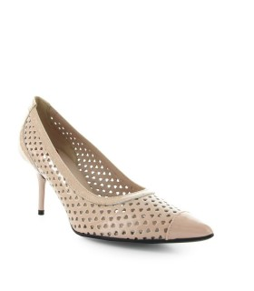 LOVE MOSCHINO HELLROSA HERZEN PUMPS