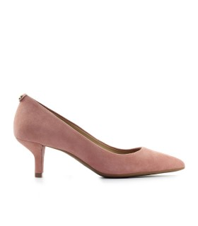 MICHAEL KORS KATERINA FLEX KITTEN LACHSROSA WILDLEDER PUMPS