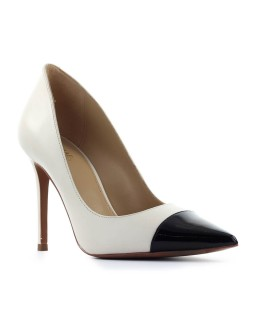 MICHAEL KORS KEKE IVORY BLACK PUMP