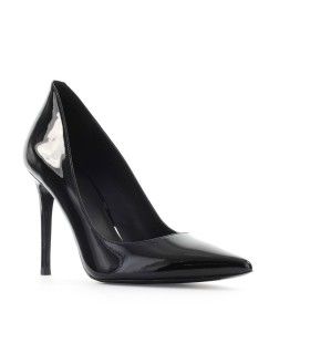 MICHAEL KORS SCHWARZ LACKLEDER KEKE PUMPS