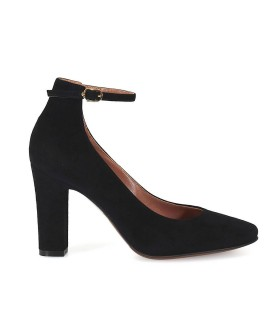 L'AUTRE CHOSE BLACK SUEDE MARY JANE PUMPS