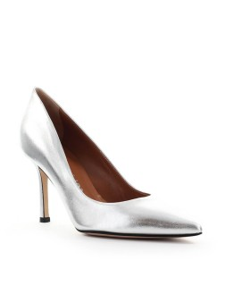 MARC ELLIS SILVER NAPPA LEATHER PUMP