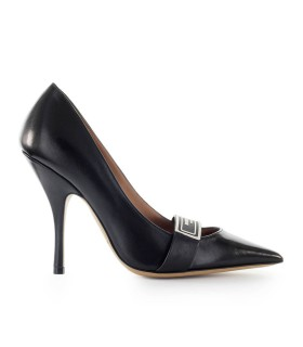 EMPORIO ARMANI BLACK NAPPA LEATHER PUMP