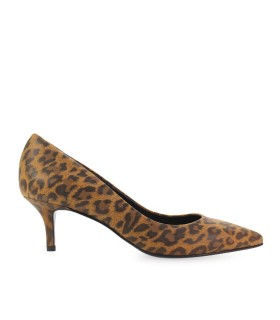 PUMPS AUS LEOPARDMUSTER LEDER STEPHEN GOOD
