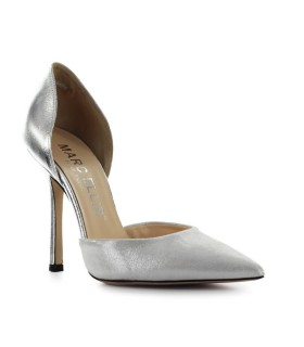 MARC ELLIS SILVER LEATHER PUMP