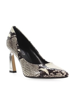 STEPHEN GOOD PYTHON-PRINTED LEATHER PUMPS