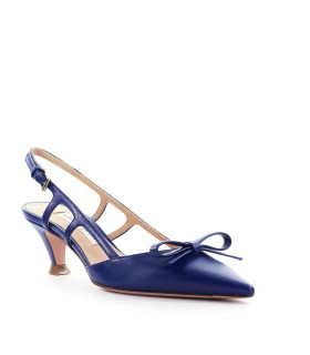 ROBERTO FESTA ALBERTA BRIGHT BLUE NAPPA LEATHER SLINGBACK PUMP