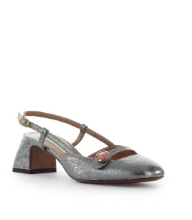 L'AUTRE CHOSE STEEL LEATHER SLINGBACK PUMP