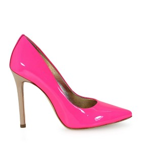 MARC ELLIS FUCHSIA PATENT PUMPS