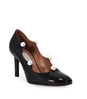 L'AUTRE CHOSE BLACK PATENT LEATHER PEARL PUMP