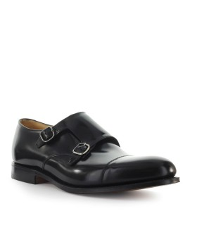 DETROIT CHURCH'S SCHWARZ POLISHBINDER MONKSTRAP SCHUHE