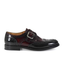 CHURCH'S PATTIE MONK STRAP SCHWARZ/LIGHT BURGUNDY MOCCASIN
