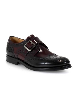 ZAPATO CORDONES PATTIE MONK STRAP BLACK/LIGHT BURGUNDY CHURCH'S