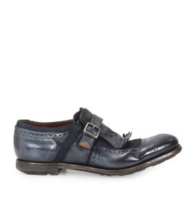 MOCASIN SHANGHAI GLACE CALF/LINEN DENIM CHURCH'S