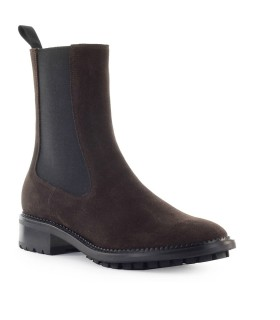 L'AUTRE CHOSE DARK BROWN SUEDE CHELSEA BOOT
