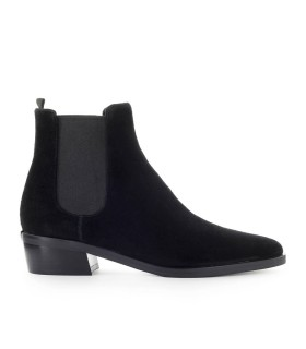 MICHAEL KORS LOTTIE BLACK SUEDE ANKLE BOOT