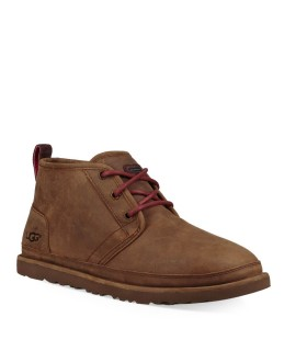 POLACCHETTO NEUMEL WATERPROOF PELLE MARRONE UGG
