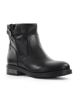 ZOE BLACK LEATHER BOOT