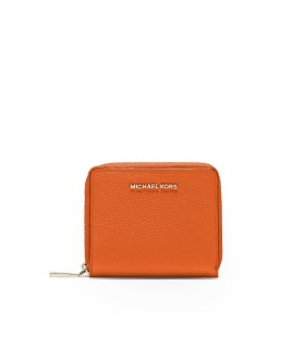 MICHAEL KORS ORANGE MEDIUM SNAP WALLET