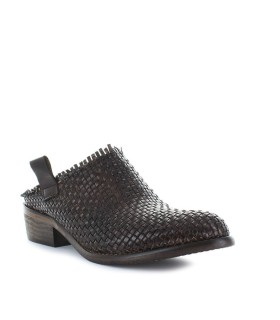 ZOE BROWN LEATHER MULE
