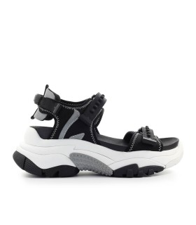 ASH ADAPT BLACK SANDAL