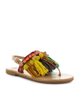 DIMITRA'S WORKSHOP MULTICOLORED AFRIKA SANDAL