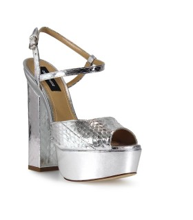 DSQUARED2 AYERS PLATFORM ZIGGY SILVER SANDALS