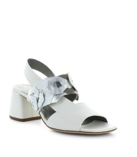 IXOS WHITE SANDAL WITH DECORATIONS
