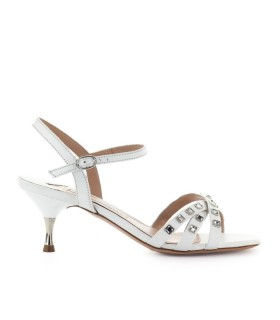 ROBERTO FESTA CONCORDIA WHITE LEATHER SANDAL