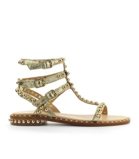 ASH PLAY GOLD FLAT SANDAL