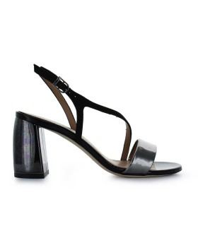 MARC ELLIS BLACK MID-HEELED SANDAL
