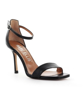 MARC ELLIS BLACK NAPPA LEATHER SANDAL